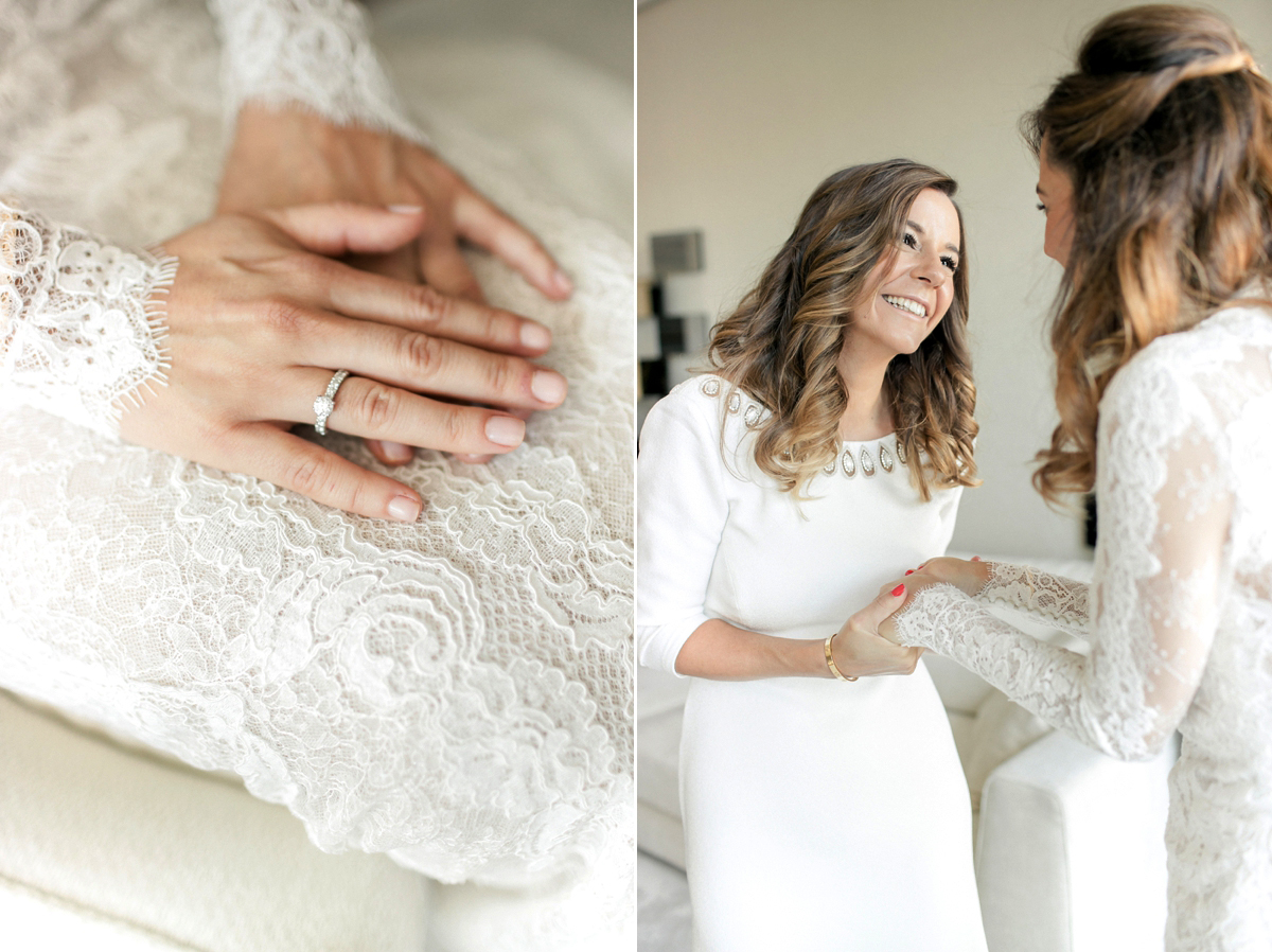 A Pronovias Gown In Lace For A Pretty And Elegant Wedding In A