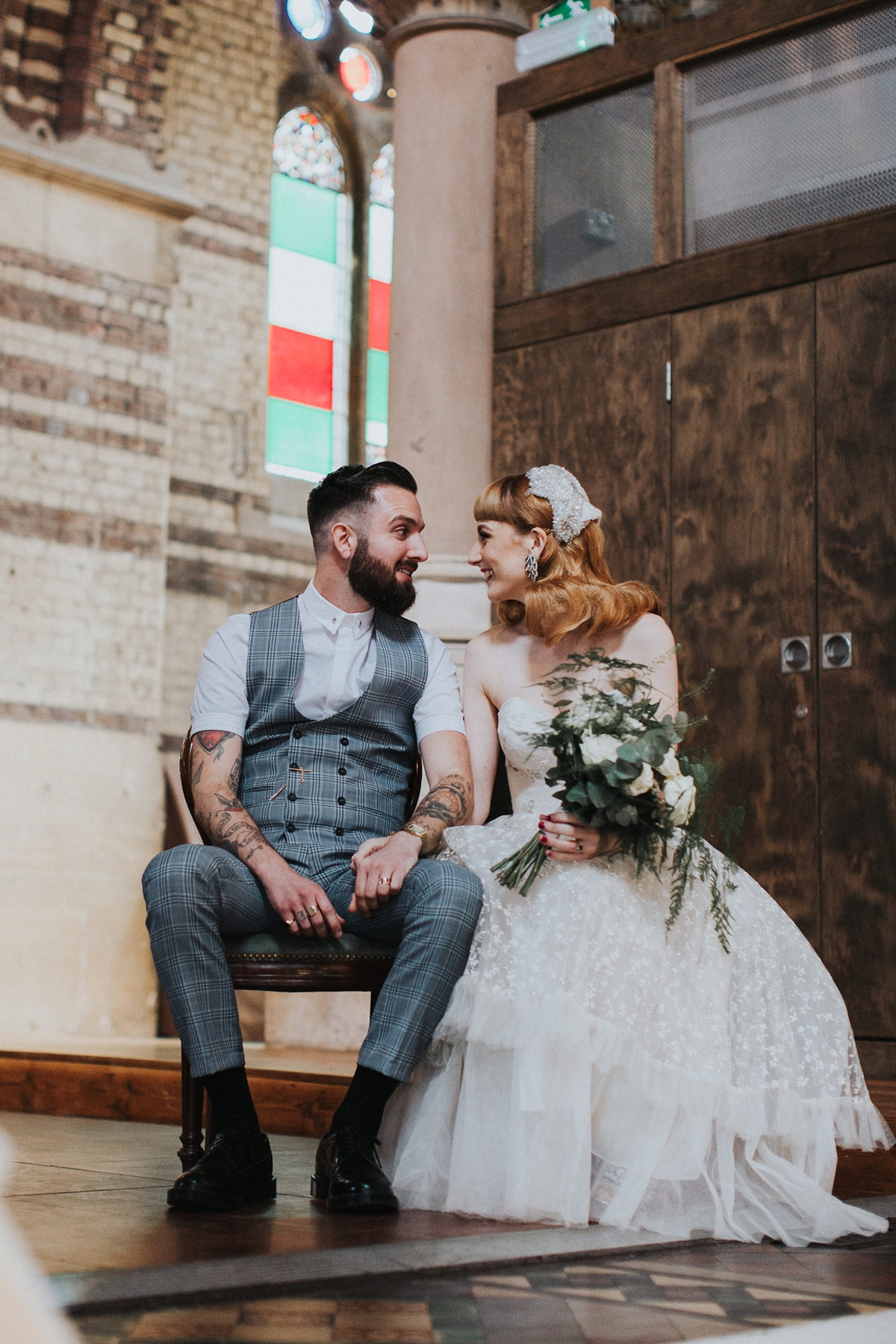 274d933c8fd two vintage gowns quirky london wedding - Two Vintage Gowns at a Quirky  London Wedding + ...