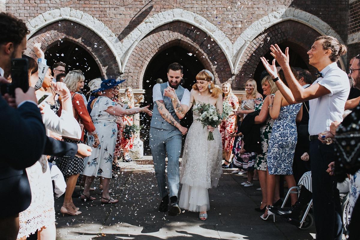cf052fdea1d ... two vintage gowns quirky london wedding - Two Vintage Gowns at a Quirky  London Wedding + ...