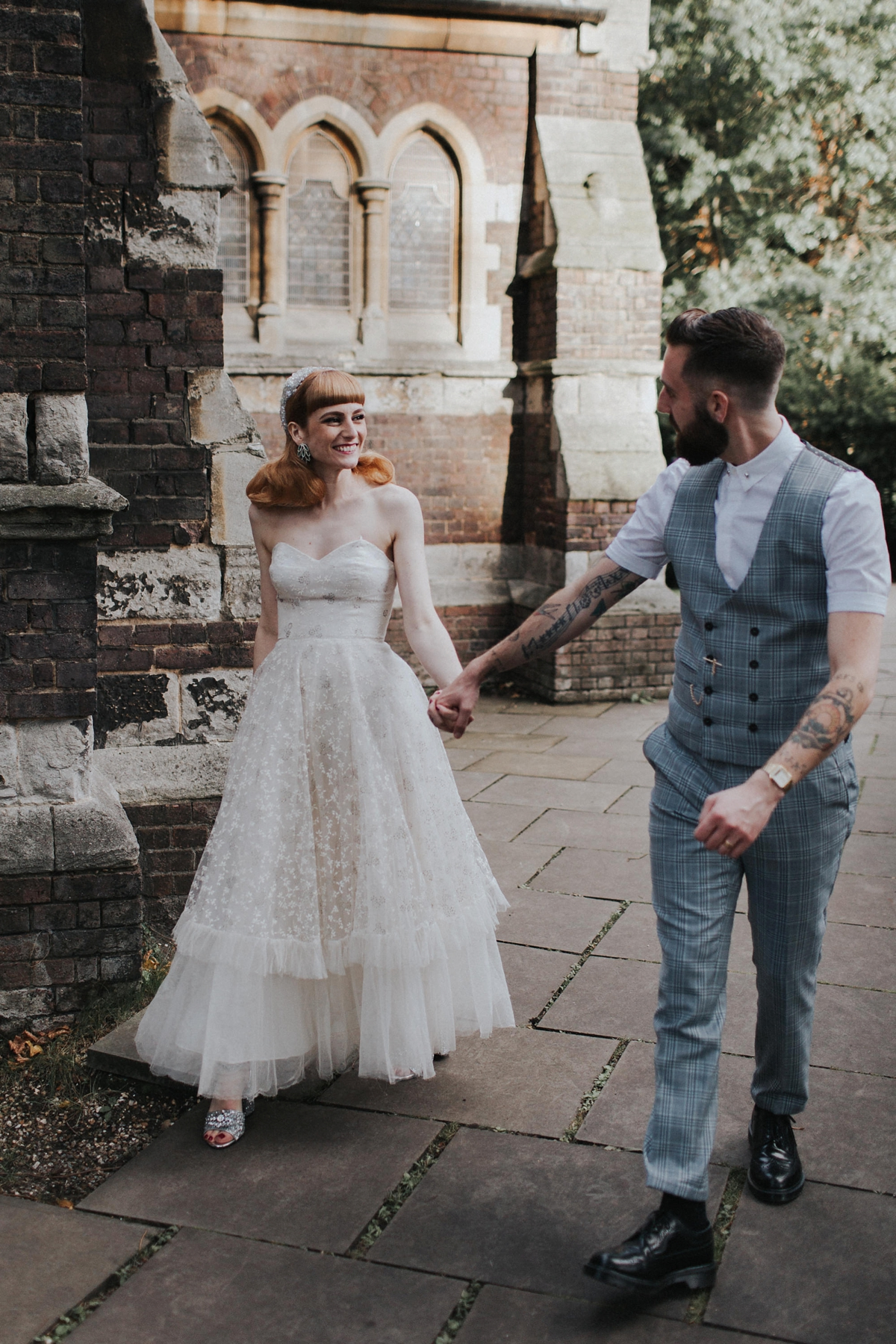 """d658a5d62cd two vintage gowns quirky london wedding - Two Vintage Gowns at a Quirky  London Wedding +. """""""