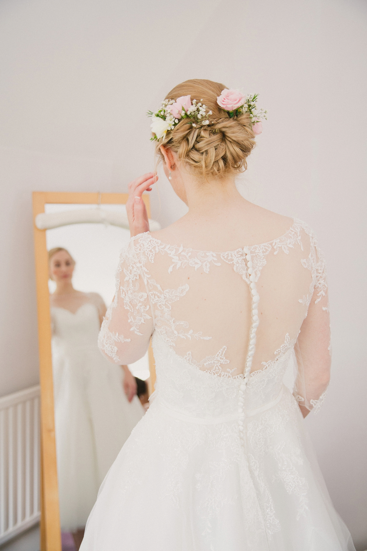 """6b8ece119f s style lace wedding dress - A Tea-Length Gown For A Charming Seaside  Wedding. """""""