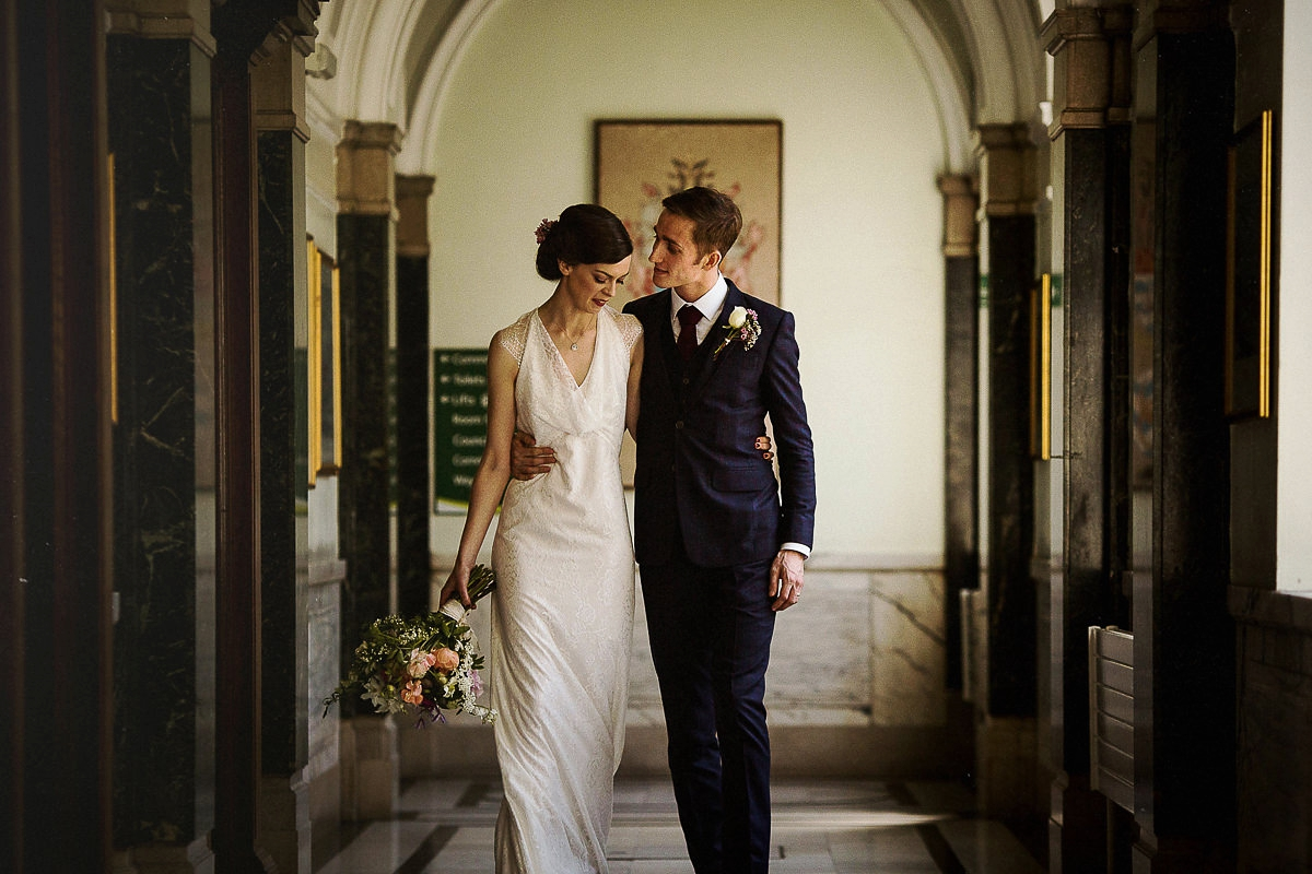 151477a7979 Fiona Greg - A Cowl Neck Minna Gown For A Relaxed and Informal London Pub  Wedding ...