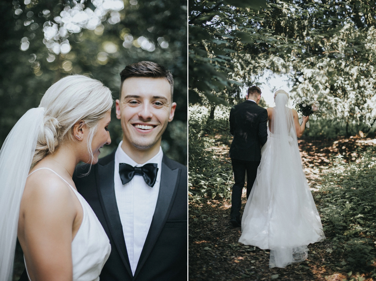 Holly Daniel Grace Elizabeth Photo Film  - A Sassi Holford Gown for an Elegant and Edgy Black Tie Wedding