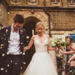 A Caroline Castigliano Dress with Pockets for a Glamorous London Wedding