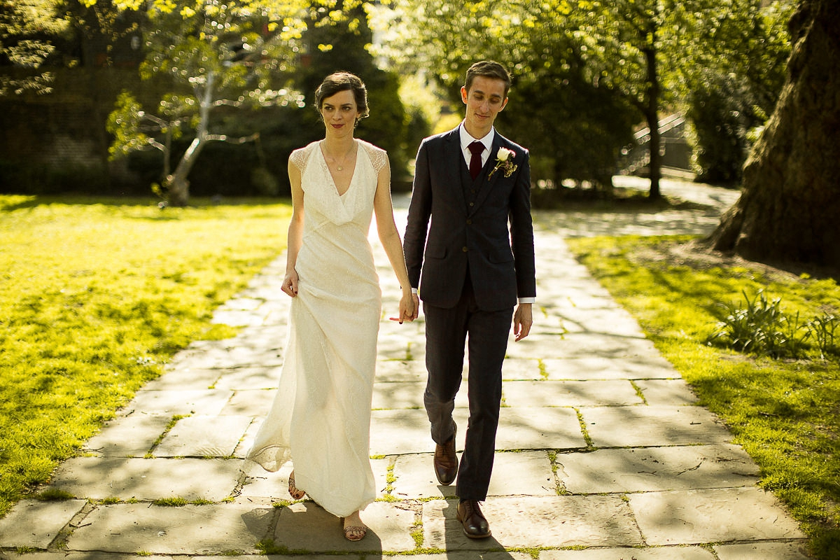 Minna Dress London Pub Wedding A Cowl Neck Gown For Relaxed And Informal