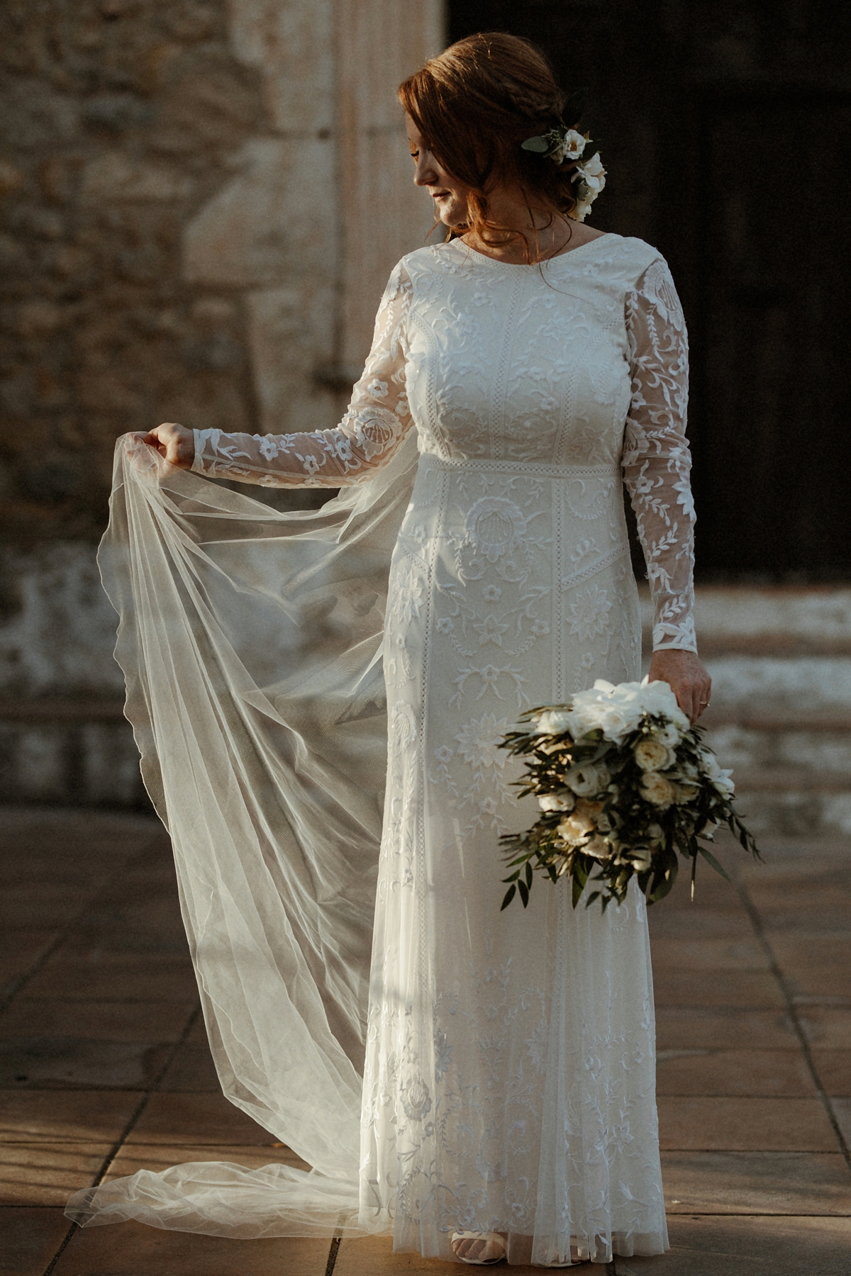 A Savannah Miller Dress For A Spanish Olive Grove Inspired Wedding