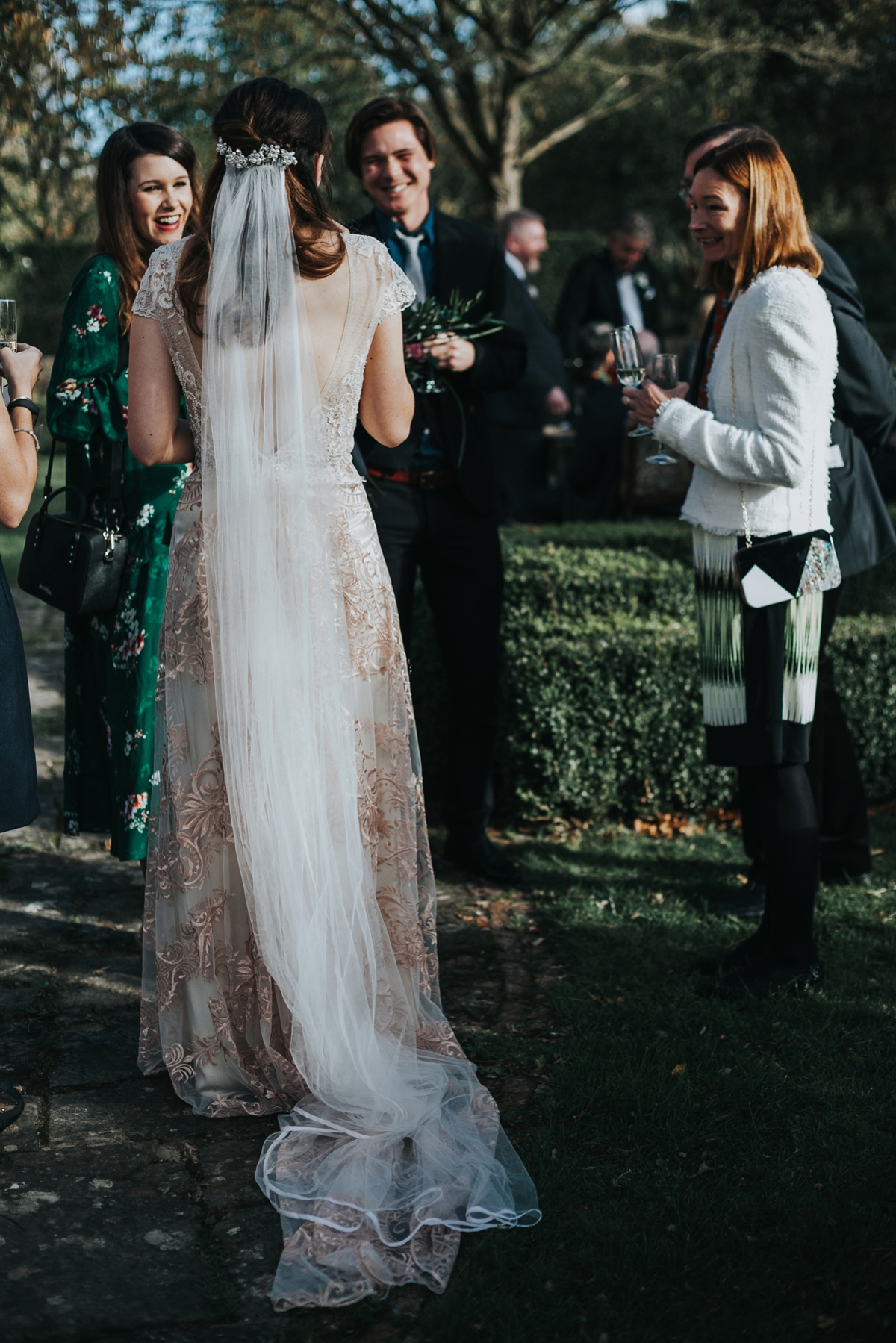 4ab37aa9f53 Claire Pettibone dress for an Autumn country house wedding - A Claire  Pettibone Gown for an