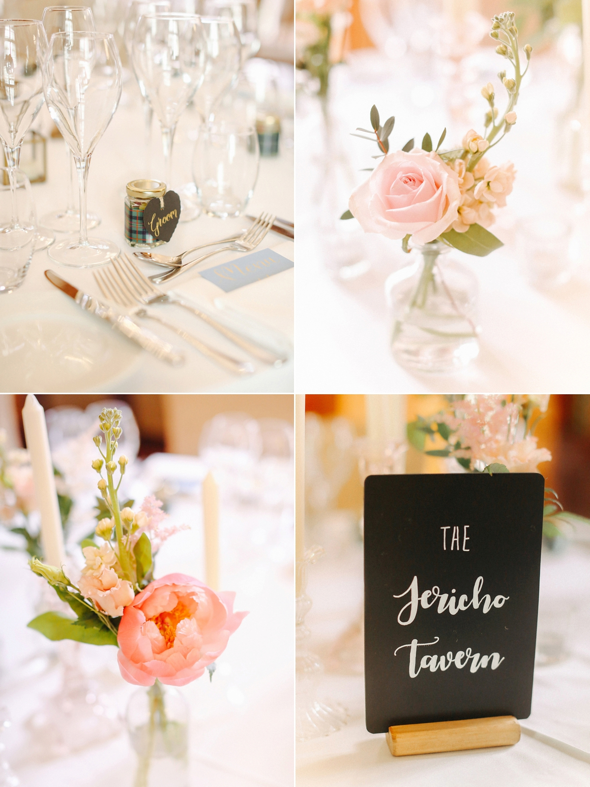 Peach elegant table decor - A Caroline Castigliano Gown for a Chic and Classic Manor House Wedding in Shades of Peach
