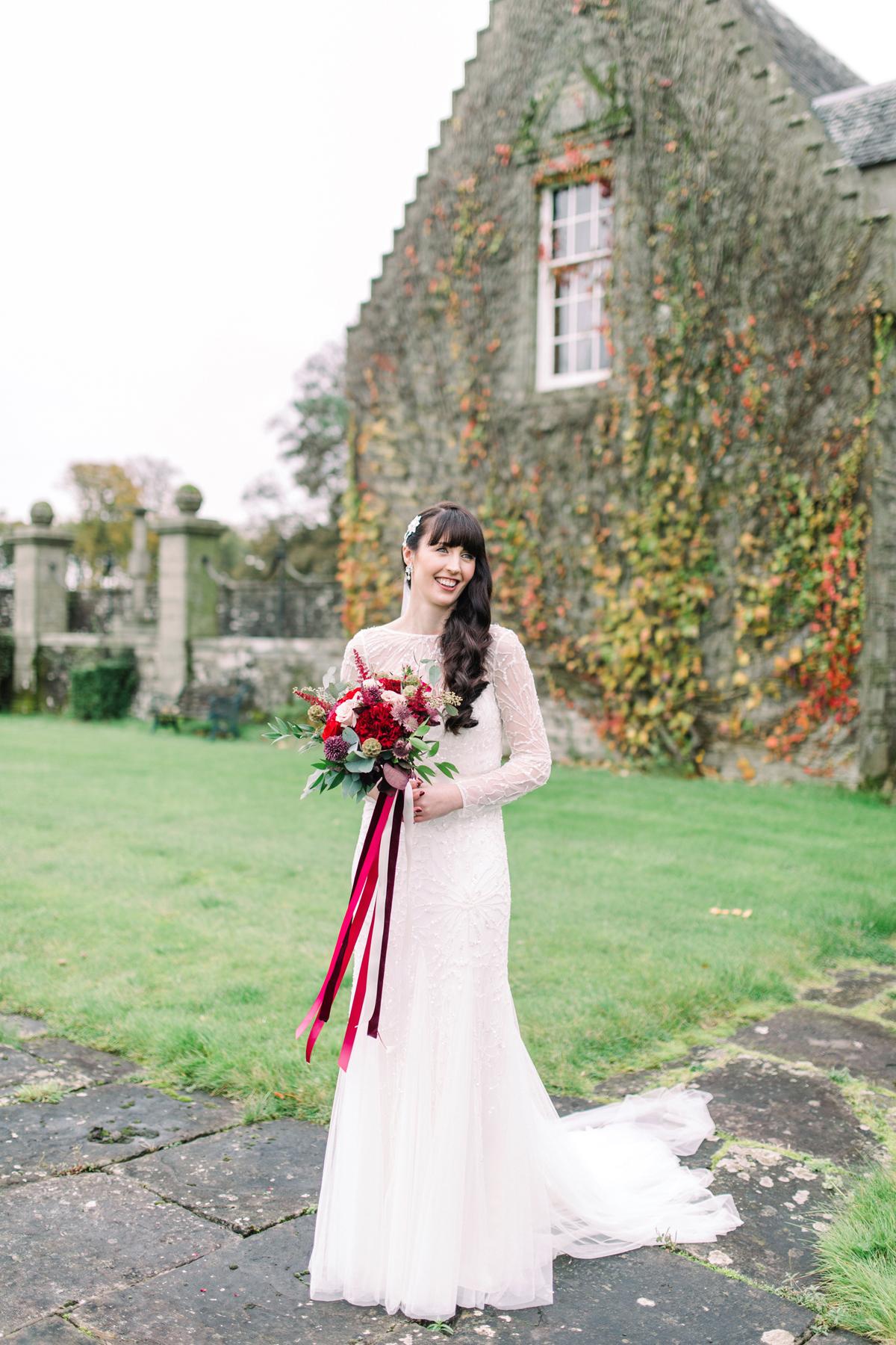 fcc841ac927 ... Rowallan Castle wedding - A Rosa Clara Gown for a Scottish Castle  Wedding in the Autumn ...