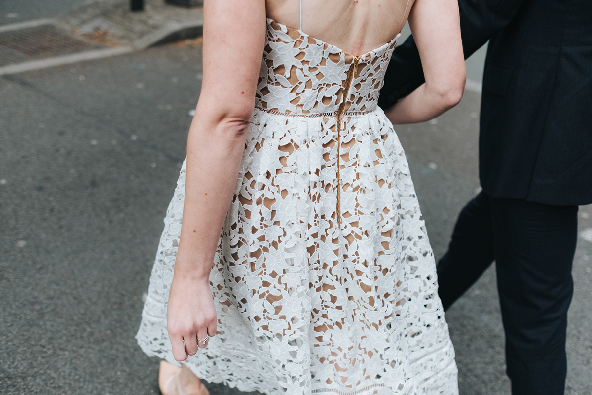 458d7fbd52eb ... Back of a Self Portrait wedding dress - A Self Portrait Dress for a  Laidback and ...