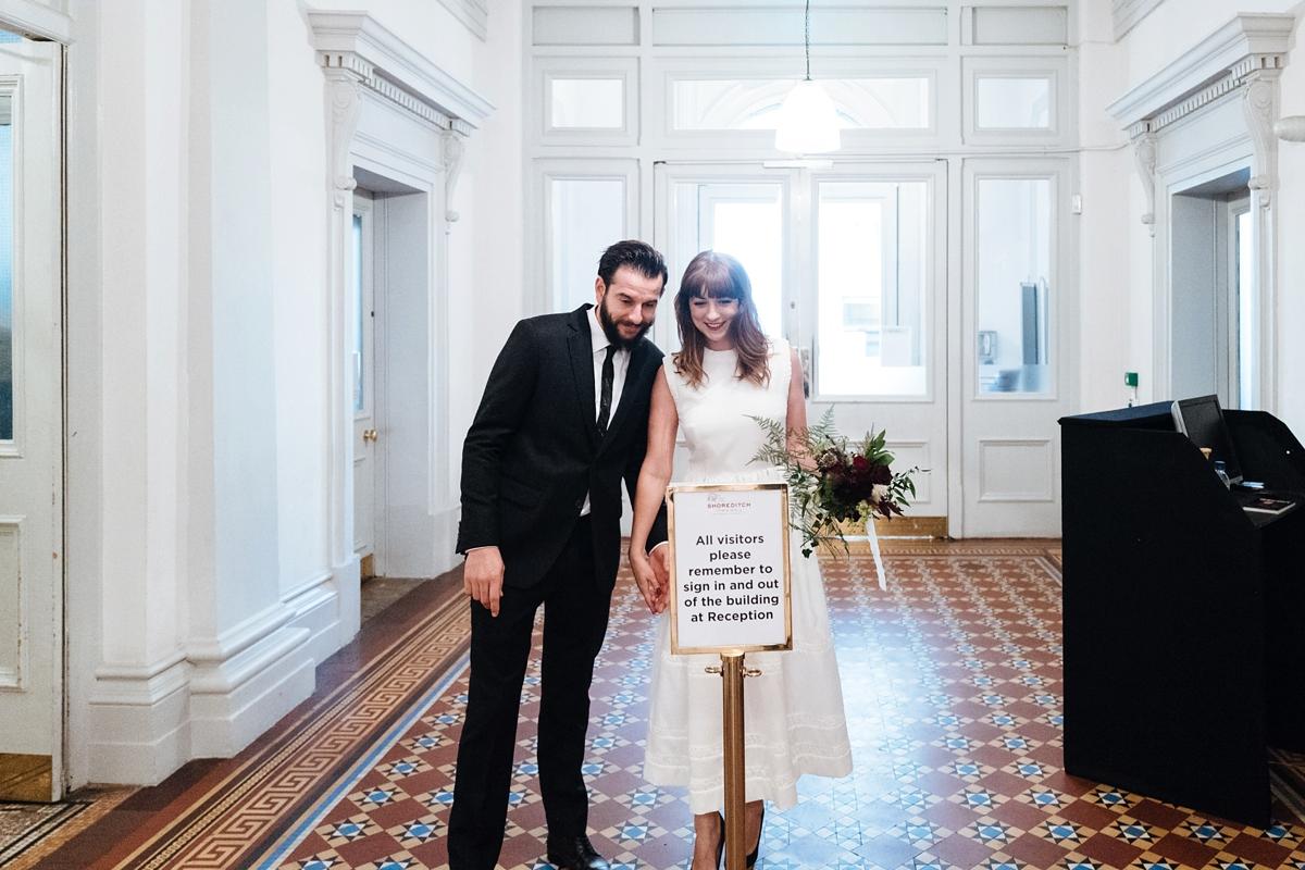 de23b5e6c2 ... Emilia Wickstead bride london - An Emilia Wickstead Dress For An  Informal and Cool Central London ...