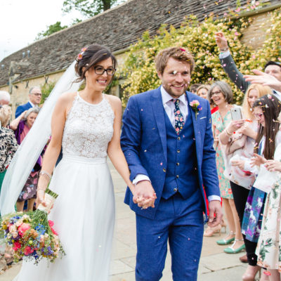 A Bride Wearing Glasses for her Sweet, Spring Wedding full of Colour and Charm