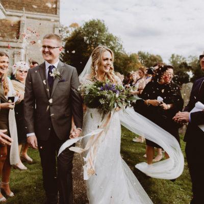 A Bowen Dryden Gown for an African Savanna Inspired Back Garden Wedding