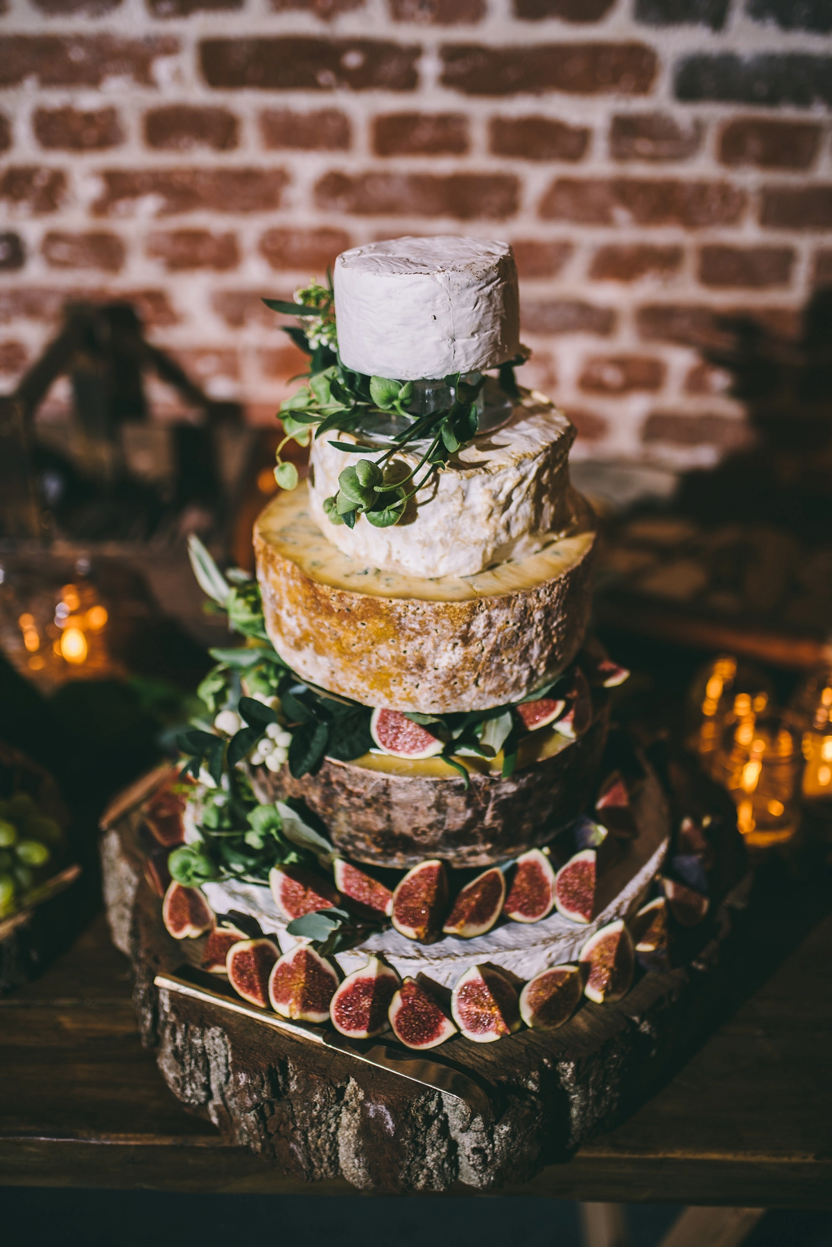 cheese wedding cakes north west a floral rime arodaky gown for a rustic cosy and 12614