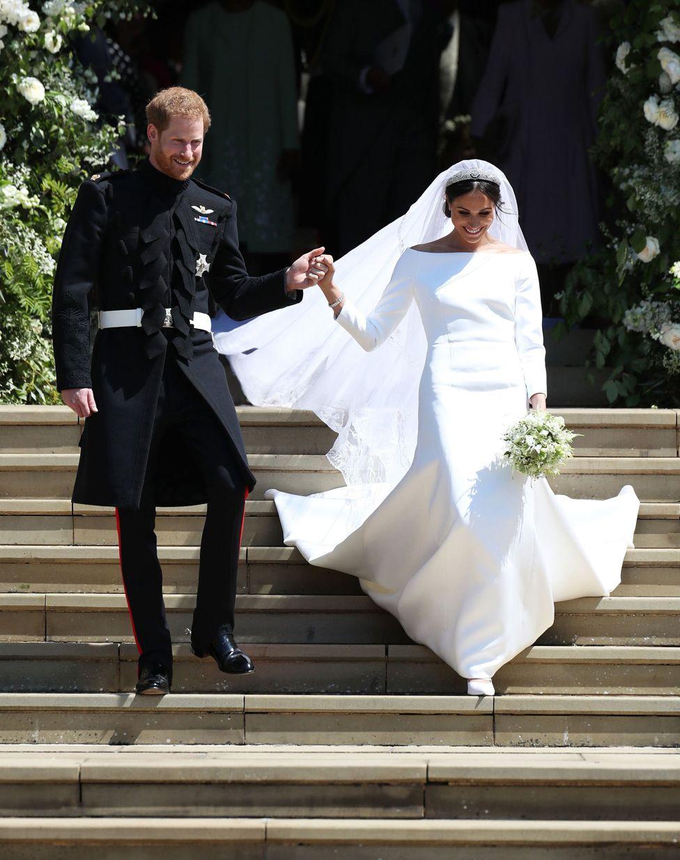 8bbacbc3955 Meghan Markles wedding dress by Clare Waight Keller of Givenchy - Meghan  Markle s Wedding Dress