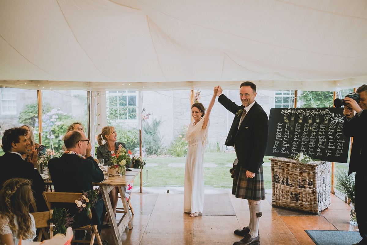 A Vintage Dress For A Charming Wedding In The Couple's Own
