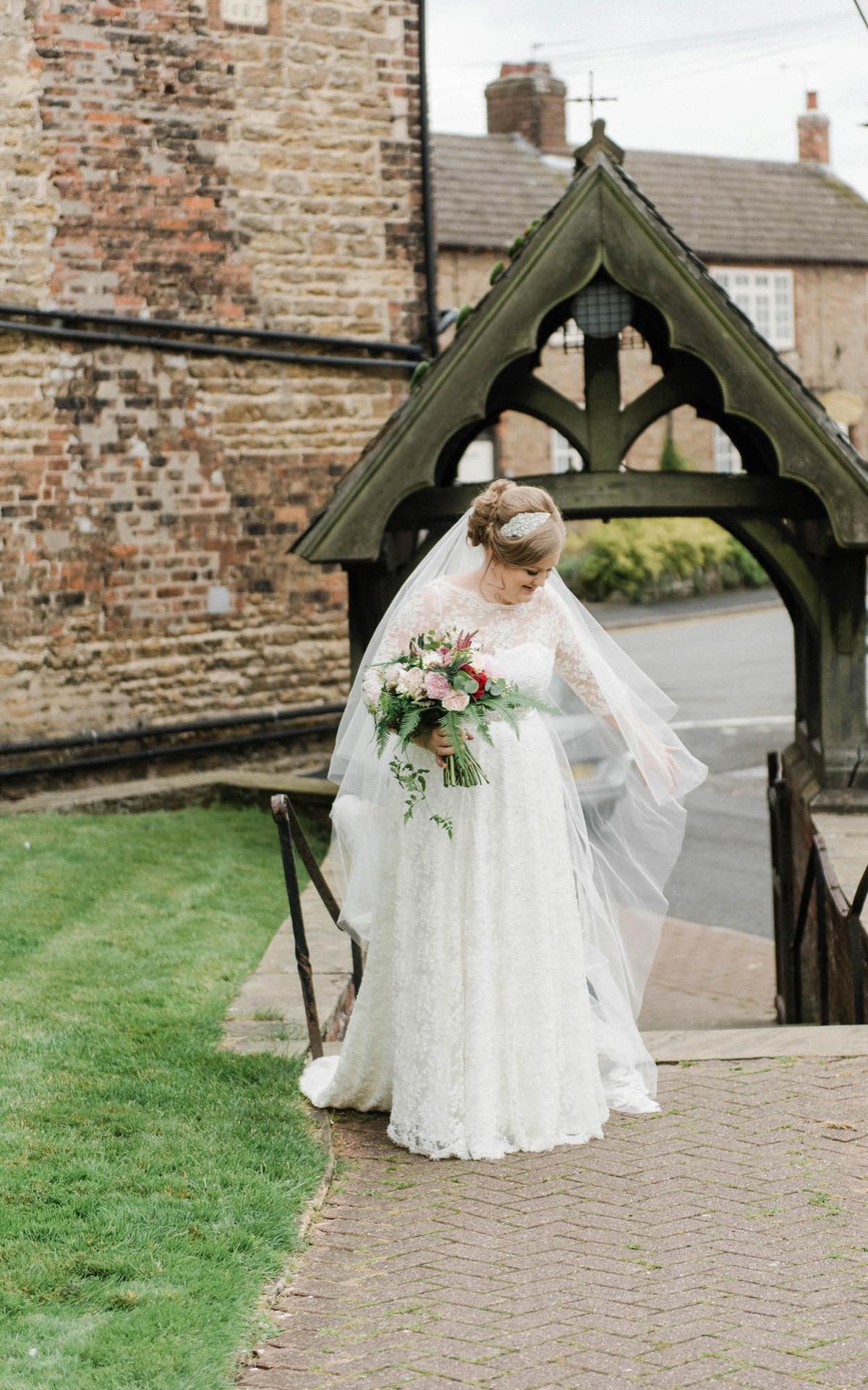 6a23397bbc158 ... A bride who made her own dress for her elegant garden party wedding - A  Bride