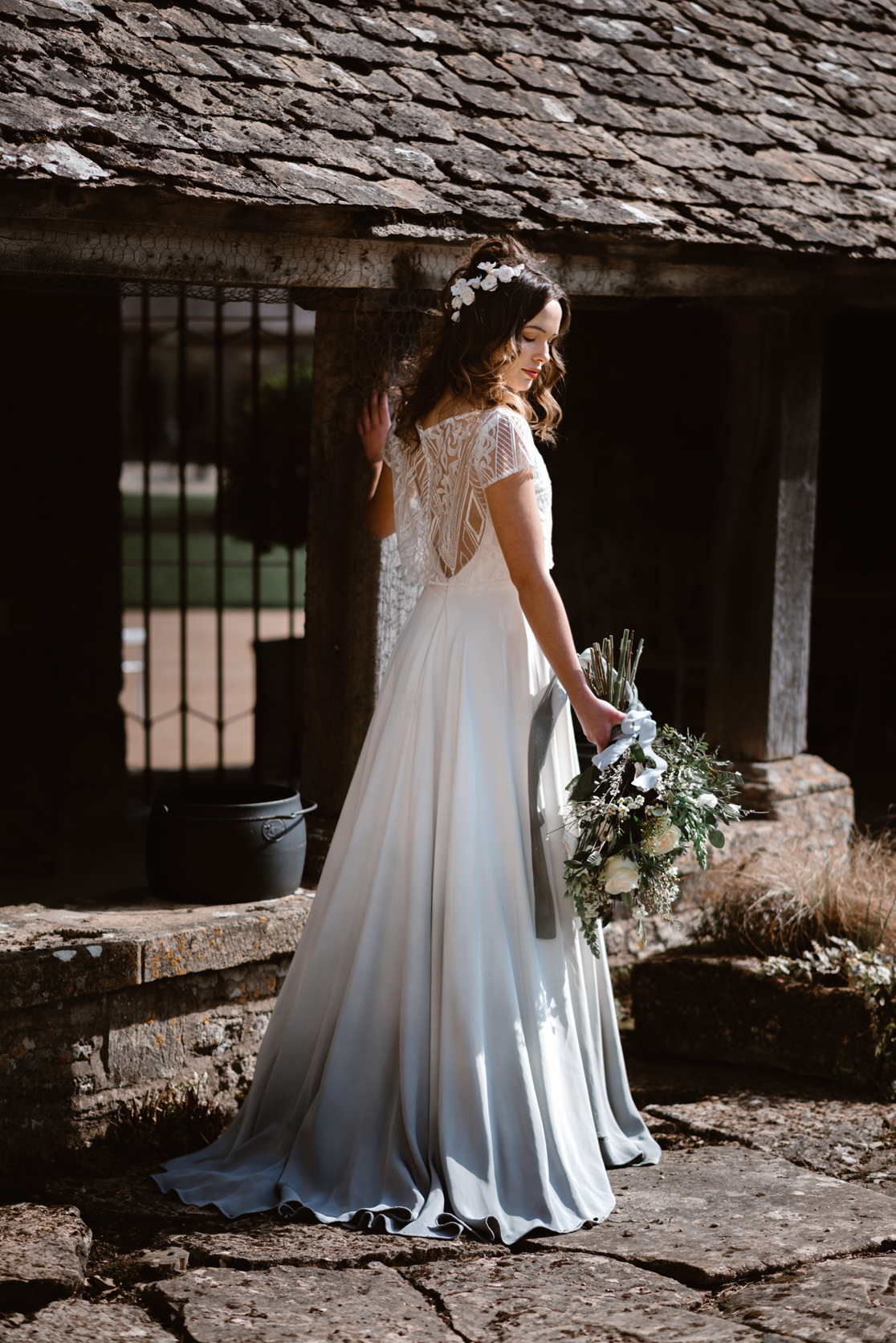 8bedf6ad1b81 Blue Romance  A Provençal Inspired and Elegant Bridal Editorial ...