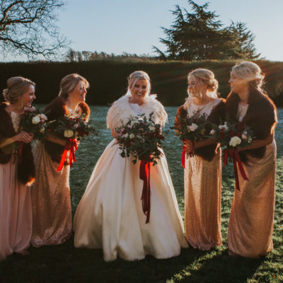 A Provonias Gown For A Glamorous and Festive Winter Wedding