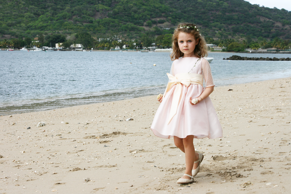 657aaece0ba7 flowergirl dresses beach little eglantine dorothee - Stylish Outfits for  Children at Weddings by Little Eglantine