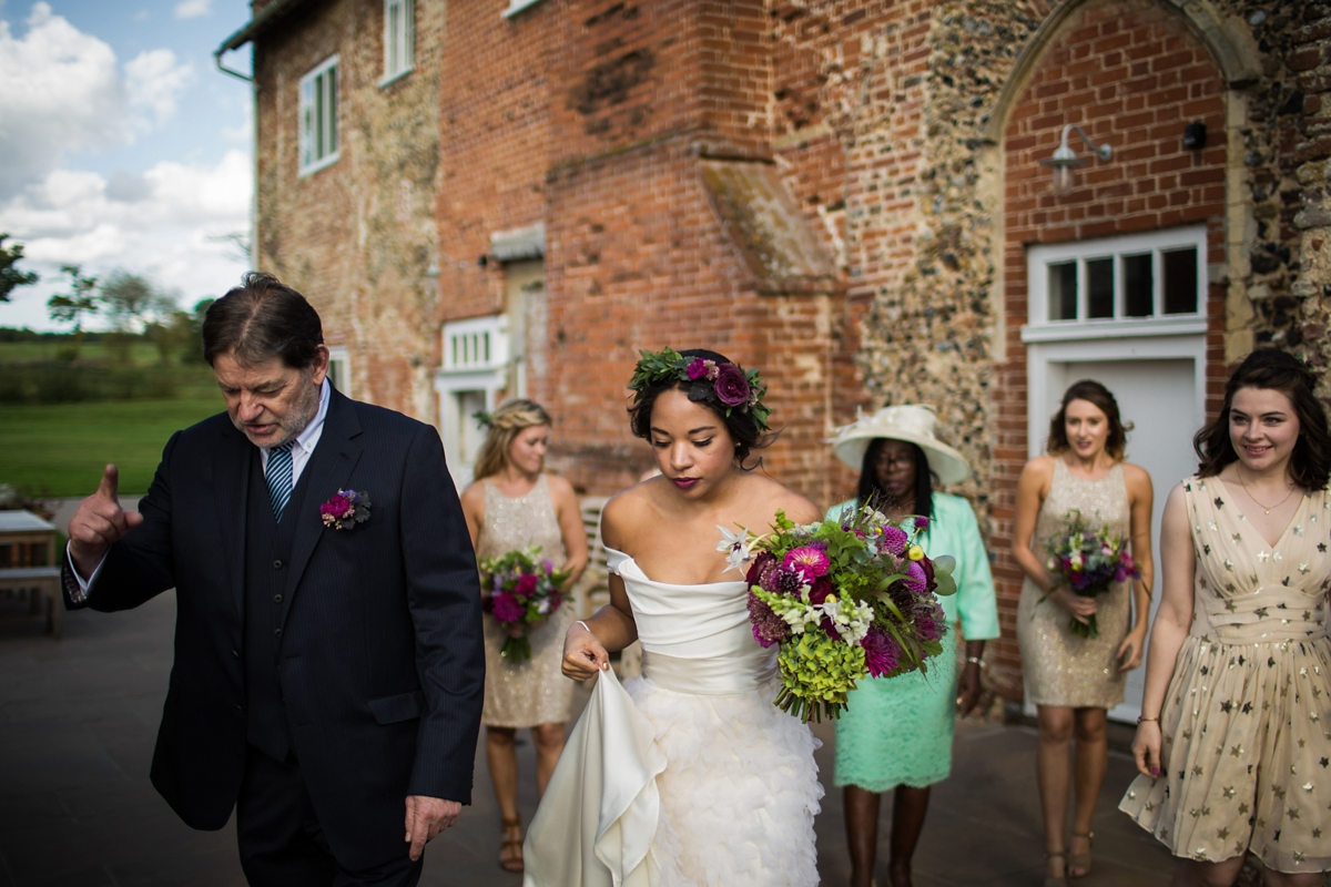 aa9d4b852a91 ... A Halfpenny London bride and her feathered skirt and Autumnal Suffolk  wedding - A Feathered Skirt ...