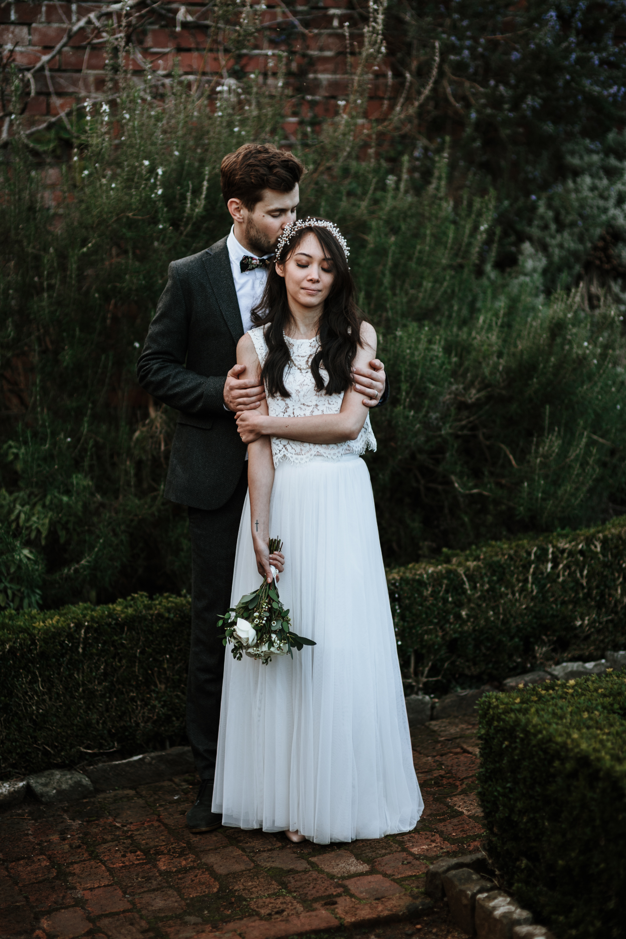96633655bec0 A BHLDN gown for a low key and intimate late Winter wedding - A BHLDN Dress