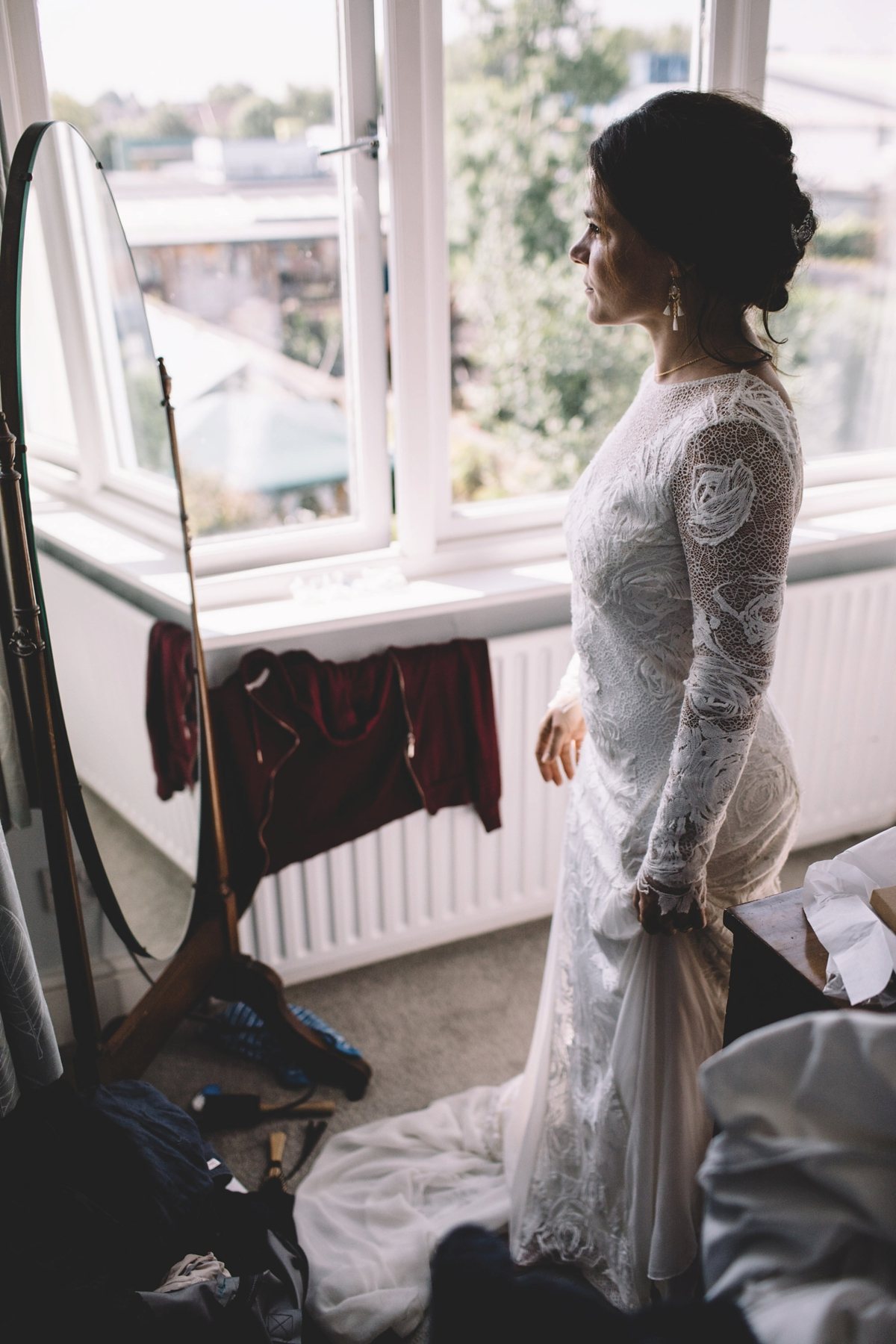 e1d134ecb9f A Grace Loves Lace gown for a DIY garden wedding inspired by nature and  flowers -