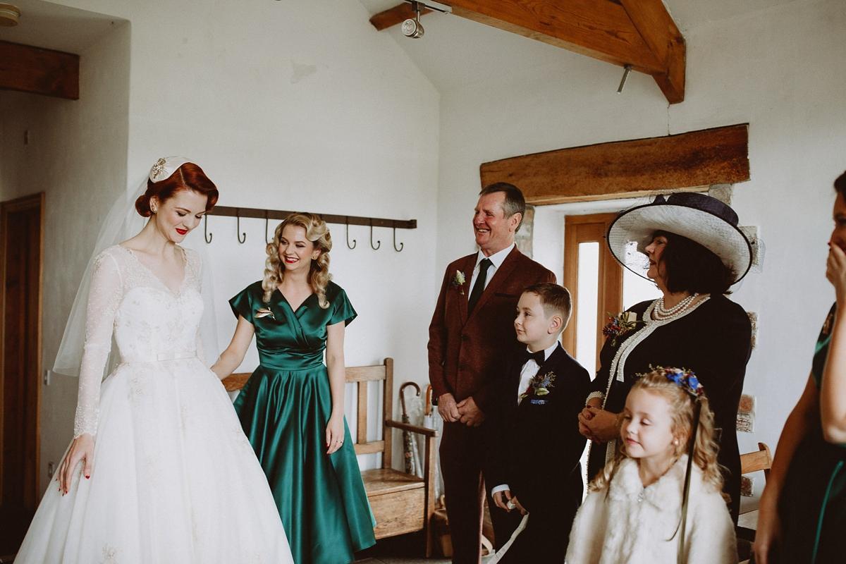 151abded81 A tea length LouLou Bridal dress for a vintage themed farm wedding - A  1940 s Inspired ...