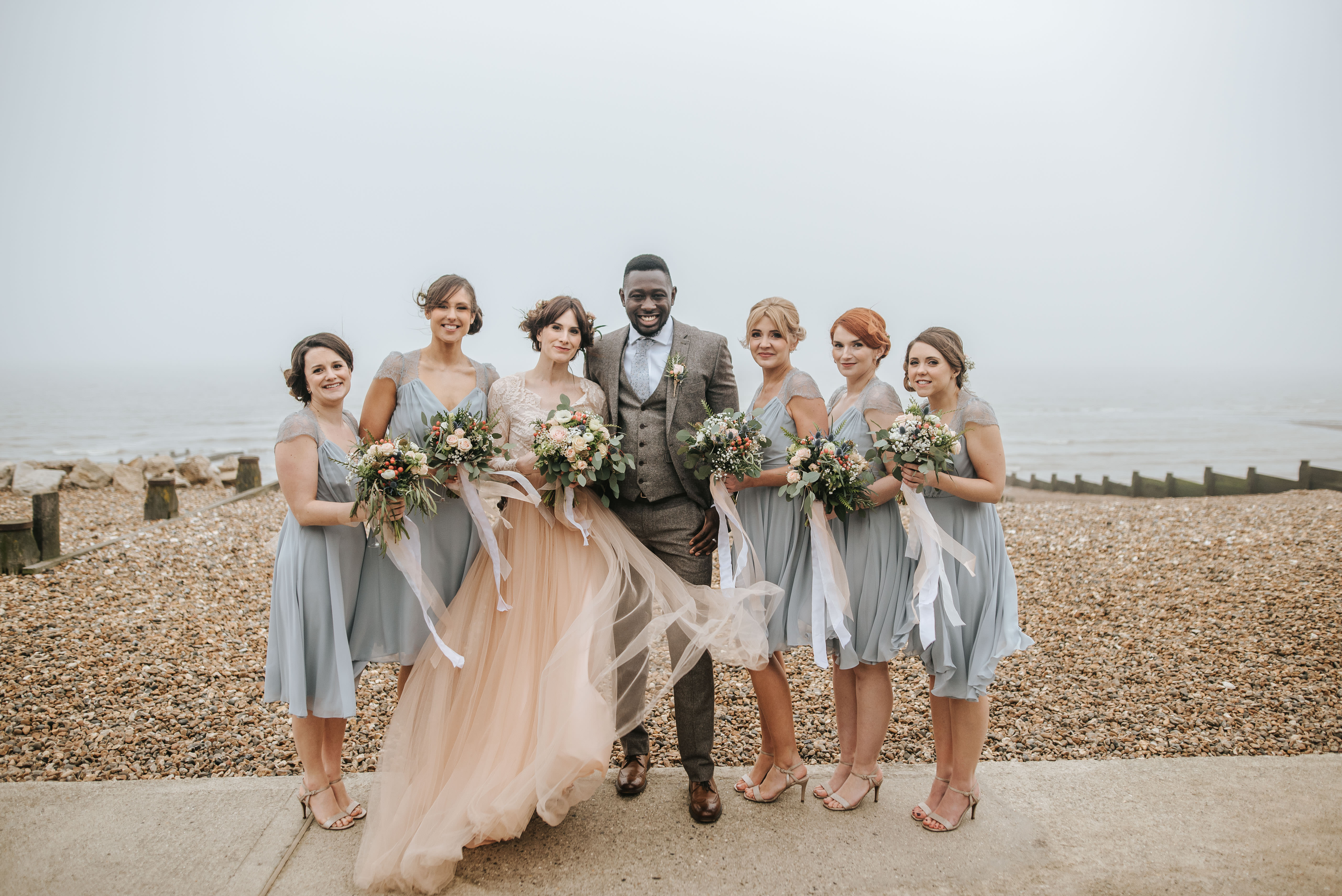 7ef3052c87c3 An Elizabeth Dye Gown in Peach Tulle for a Romantic and Whimsical Seaside  Wedding in Whitstable   Love My Dress® UK Wedding Blog + Wedding Directory