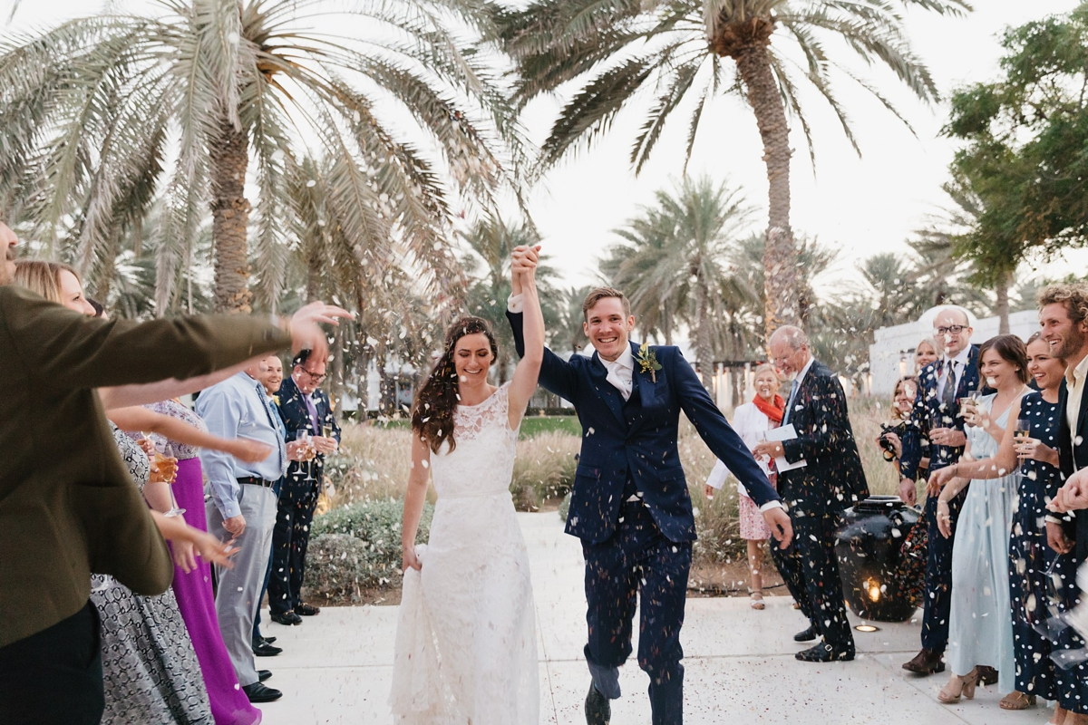 Halfpenny London Lace For An Intimate Beachside Wedding In Muscat Love My Dress Uk Wedding Blog Wedding Directory