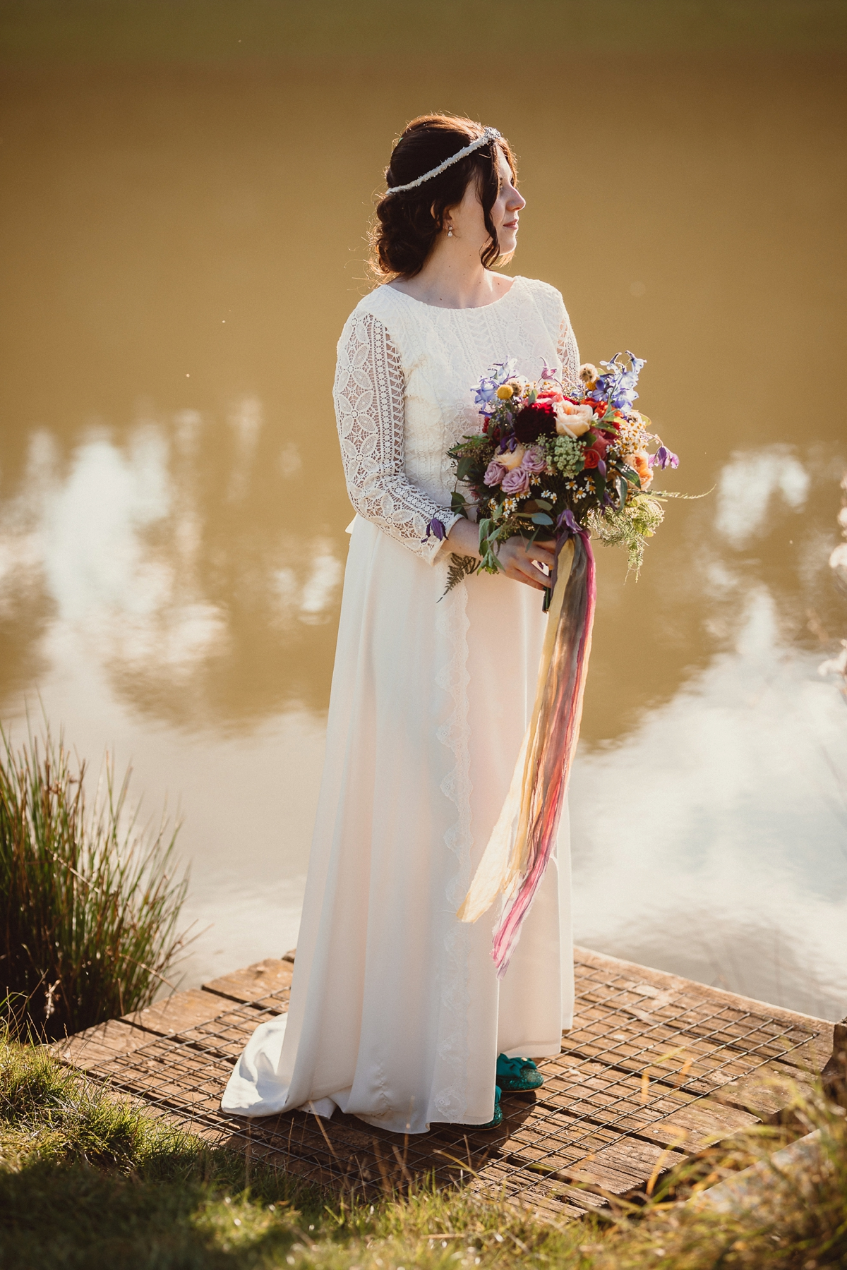 "d68bbe13438 A Minna dress for a colourful paper crane wedding on a farm - An Ethical  Wedding. """