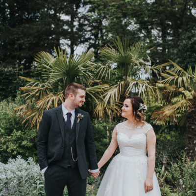 A Tea-Length Gown For A May Wedding at Le Petit Chateau, Northumberland