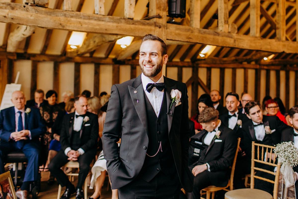 c06a52f4b4e1 ... A silk Pronovias dress for a rainy day black tie wedding - Pronovias + Black  Tie