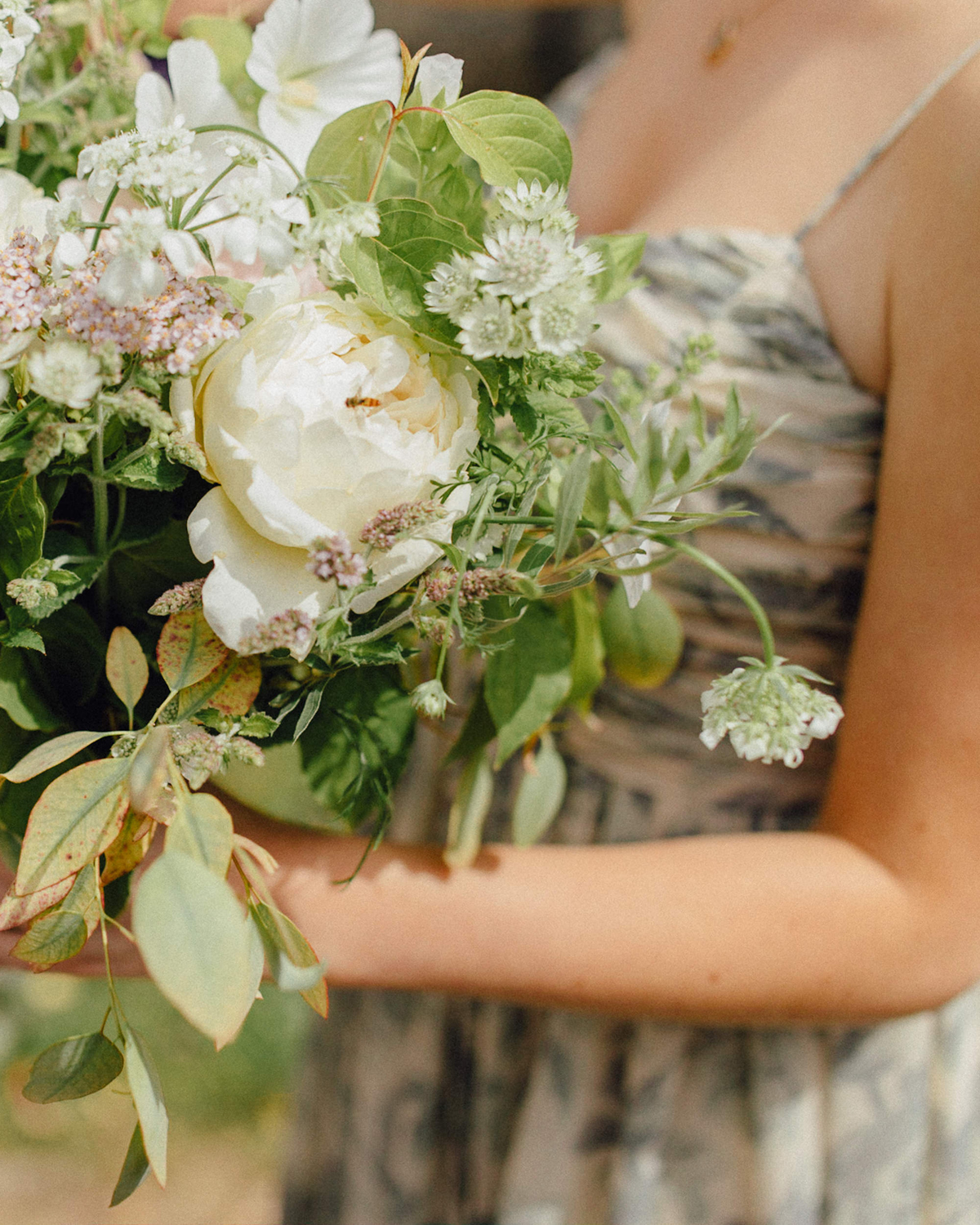 Wedding Flowers Suffolk: A Phase Eight Gown And Flowers In Her Hair For A Botanical