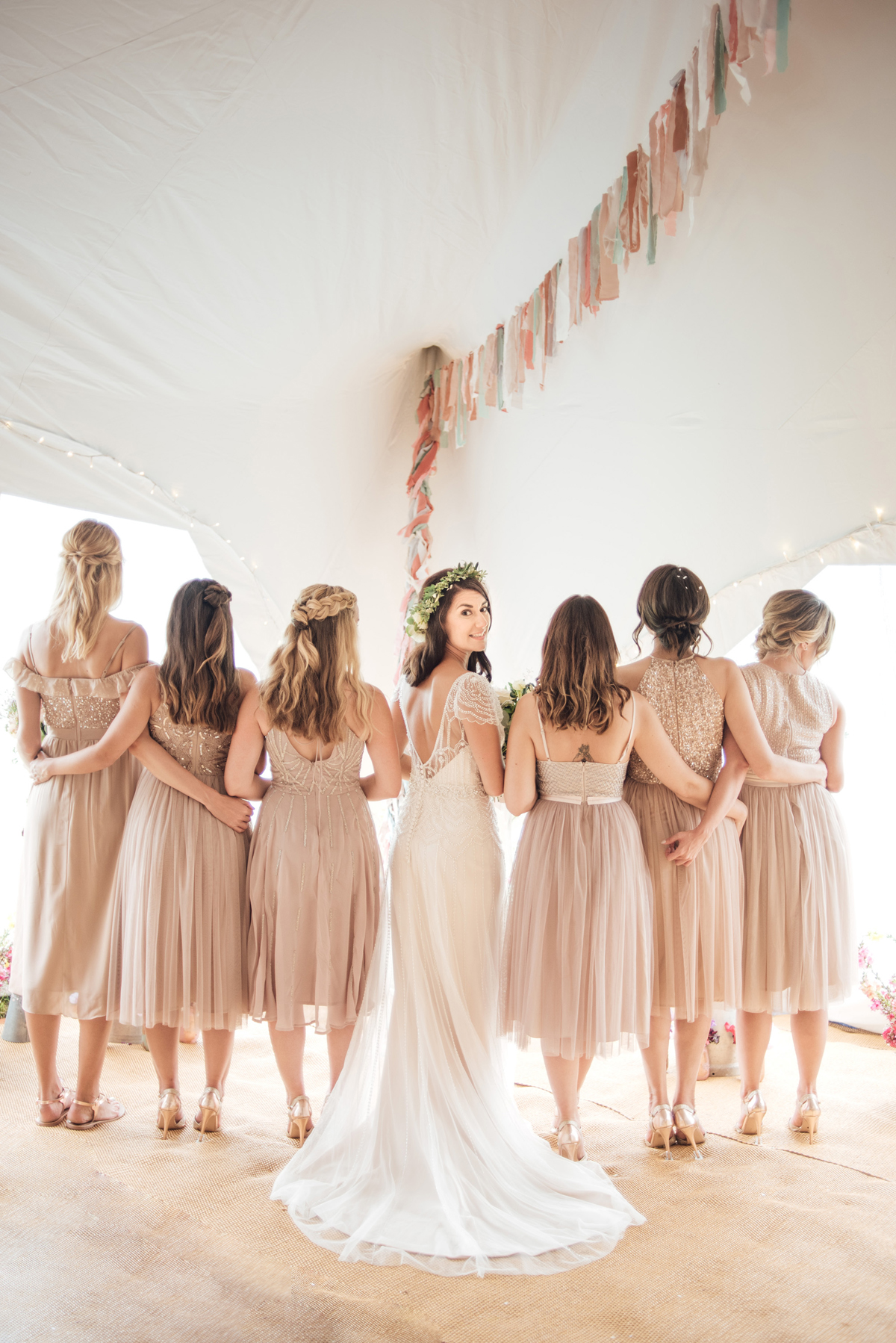 Maggie Sottero Pearls Peach Tones For A Rainy Day Wedding On The