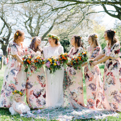 Two Eliza Jane Howell Gowns For a Colourful + Vibrant Handmade Tipi Wedding