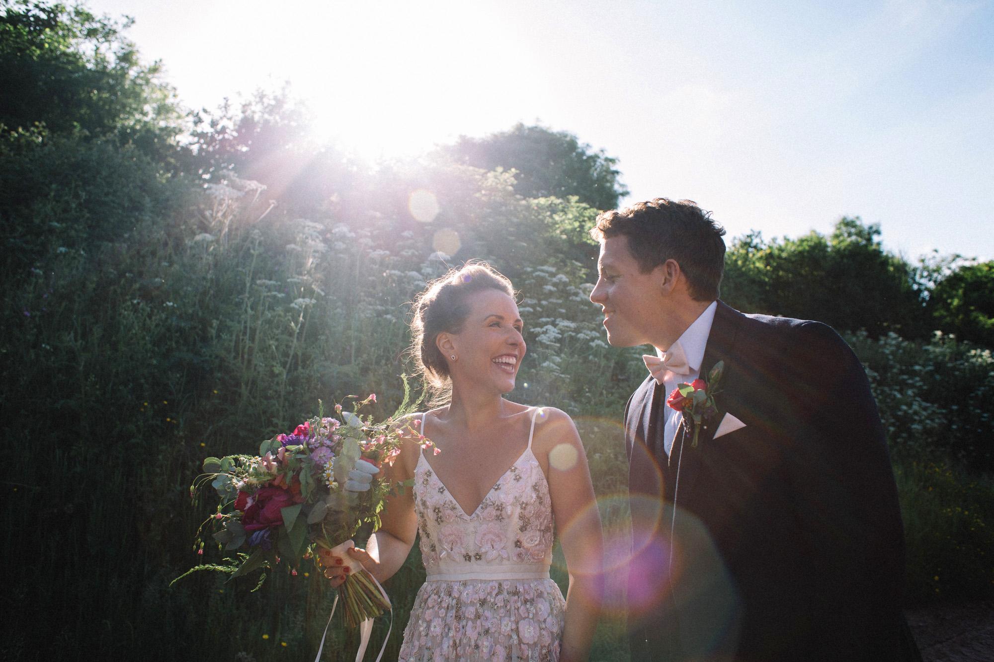 d3d44a26fcd A Needle   Thread Dress for a Laid-Back + Colourful DIY Farm Wedding In  Dorset