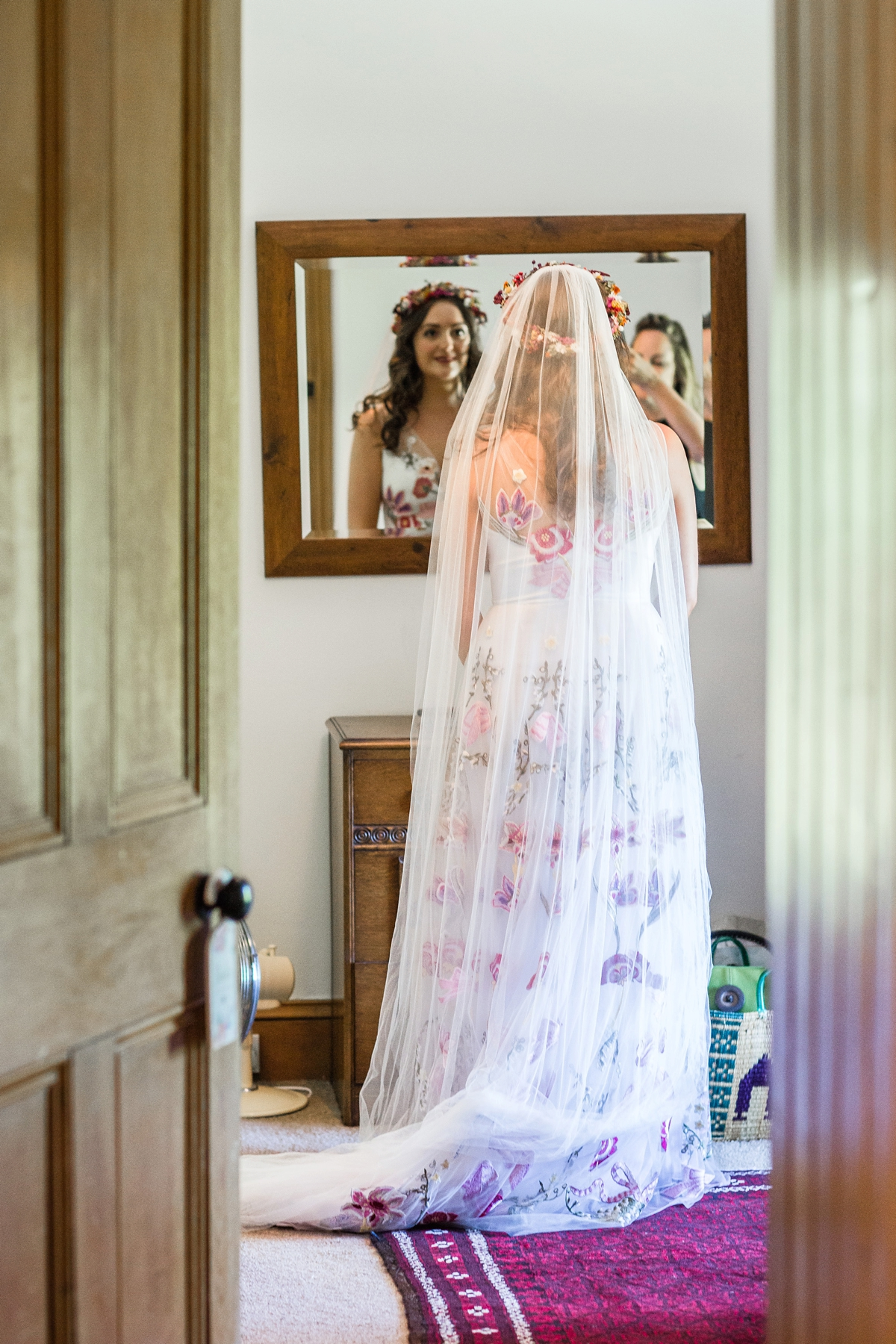 """a0cb52c00 Floral Temperley gown for a colourful outdoor Scottish wedding - A 3D  Floral Temperley Dress for. """""""