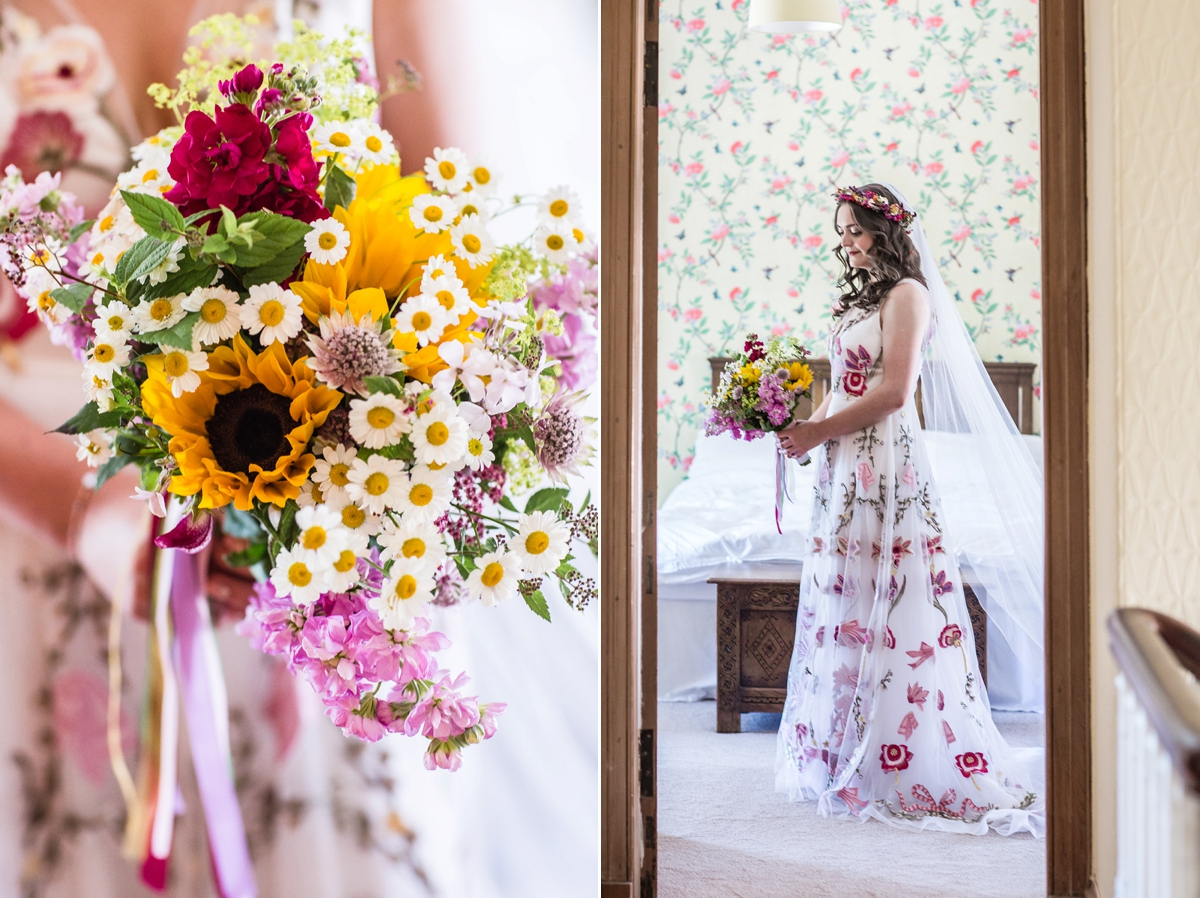 d5ab0f28a70b Floral Temperley gown for a colourful outdoor Scottish wedding - A 3D Floral  Temperley Dress for ...