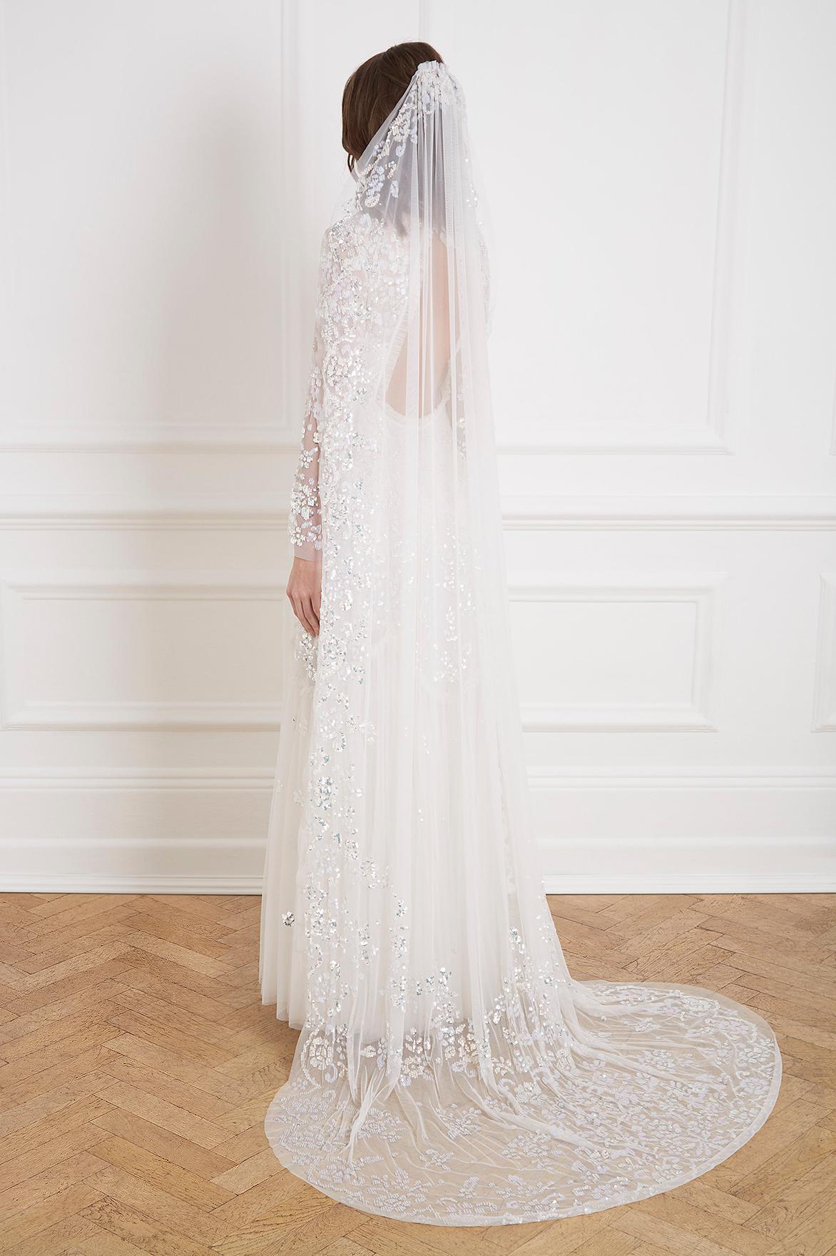 2433a7b4ec2 Beautiful Modern Wedding Capes + Veils by Needle   Thread