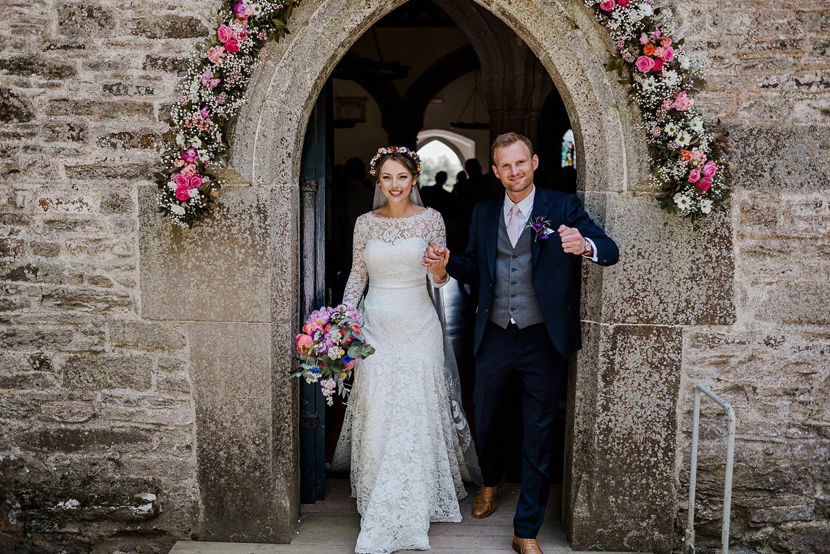 Matt Mercer Wedding.An Heirloom Veil A Colourful Diy Farm Wedding In Cornwall