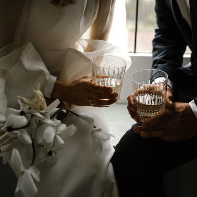 Moody, Intimate, Chic + Minimalist Winter Wedding Inspiration