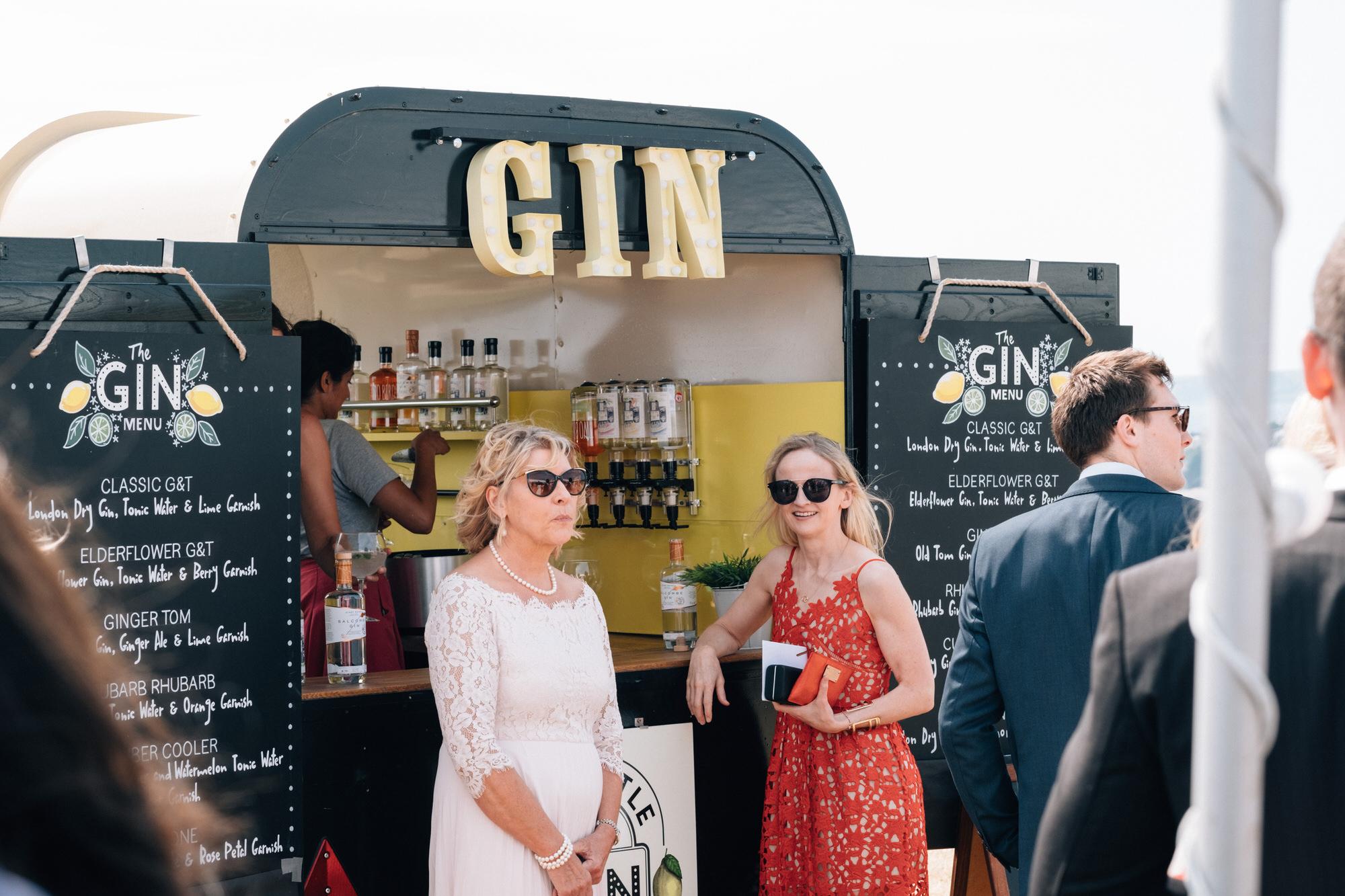8e28bc2d0e1 ... WEdding gin bar - A Floral Charlotte Balbier Gown for a Summer Wedding  in Sunny Devon