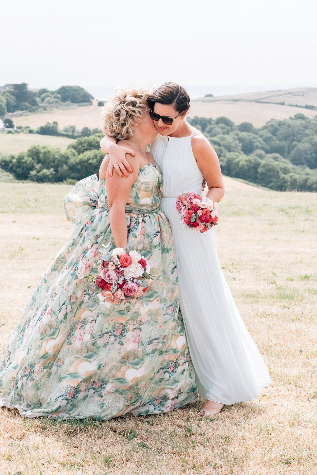 7f54a754353c9 ... A floral Charlotte Balbier dress for a relaxed summer wedding in Devon  - A Floral Charlotte