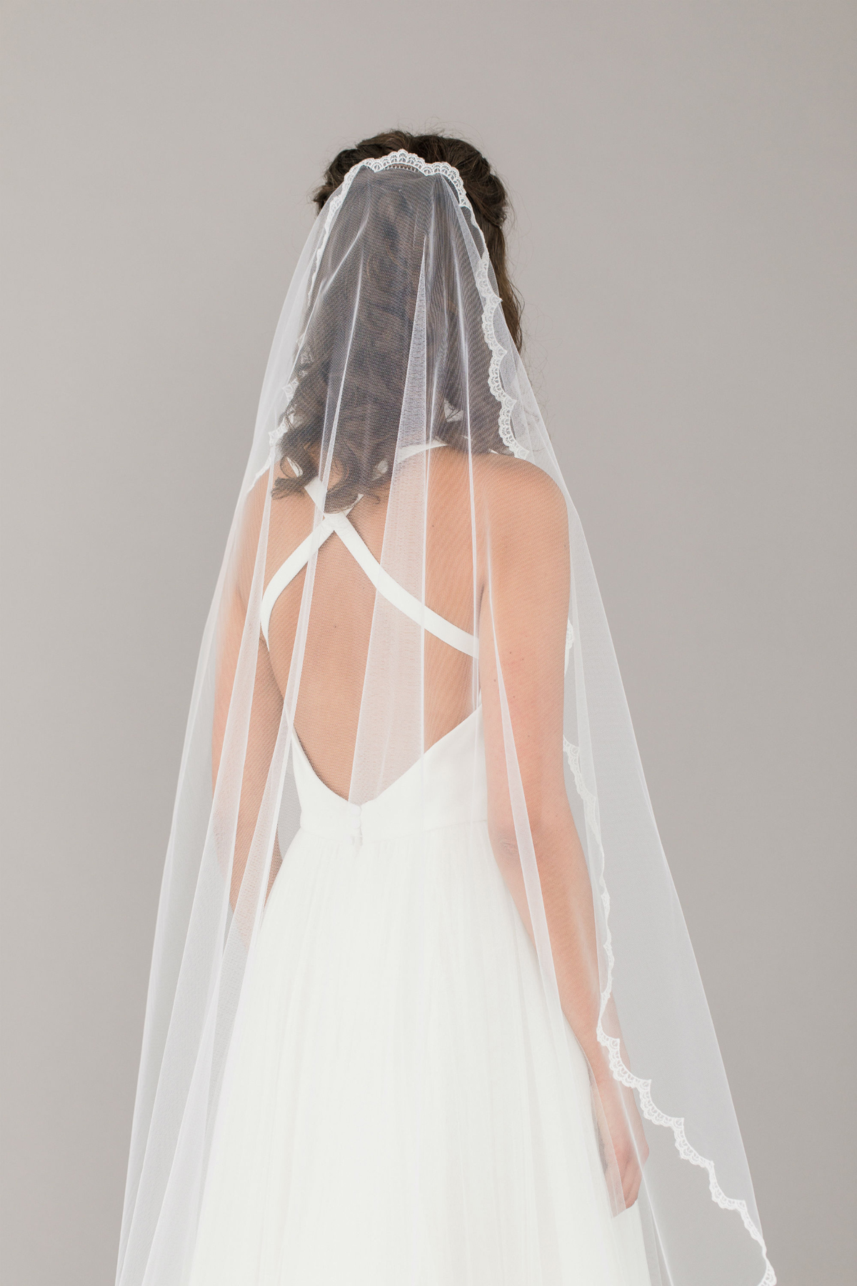3e050f844c Britten Full lace edged barely there wedding veil Adeline - Britten Wedding  Veils  The Most