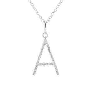76ff9a7dbe6 Diamond Letter necklace x - EW Adams - Fine Jewellery for Brides