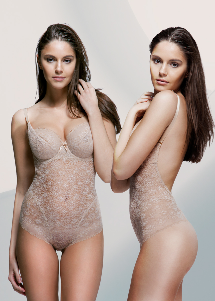 """9c34b73614c HOLLY backless lace bodysuit with underwired soft cups NUDE - An French  Lace Dress + First. """""""