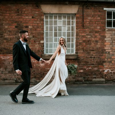 A L'eto Bridal Dress for a Chic and Modern Industrial Mill Wedding