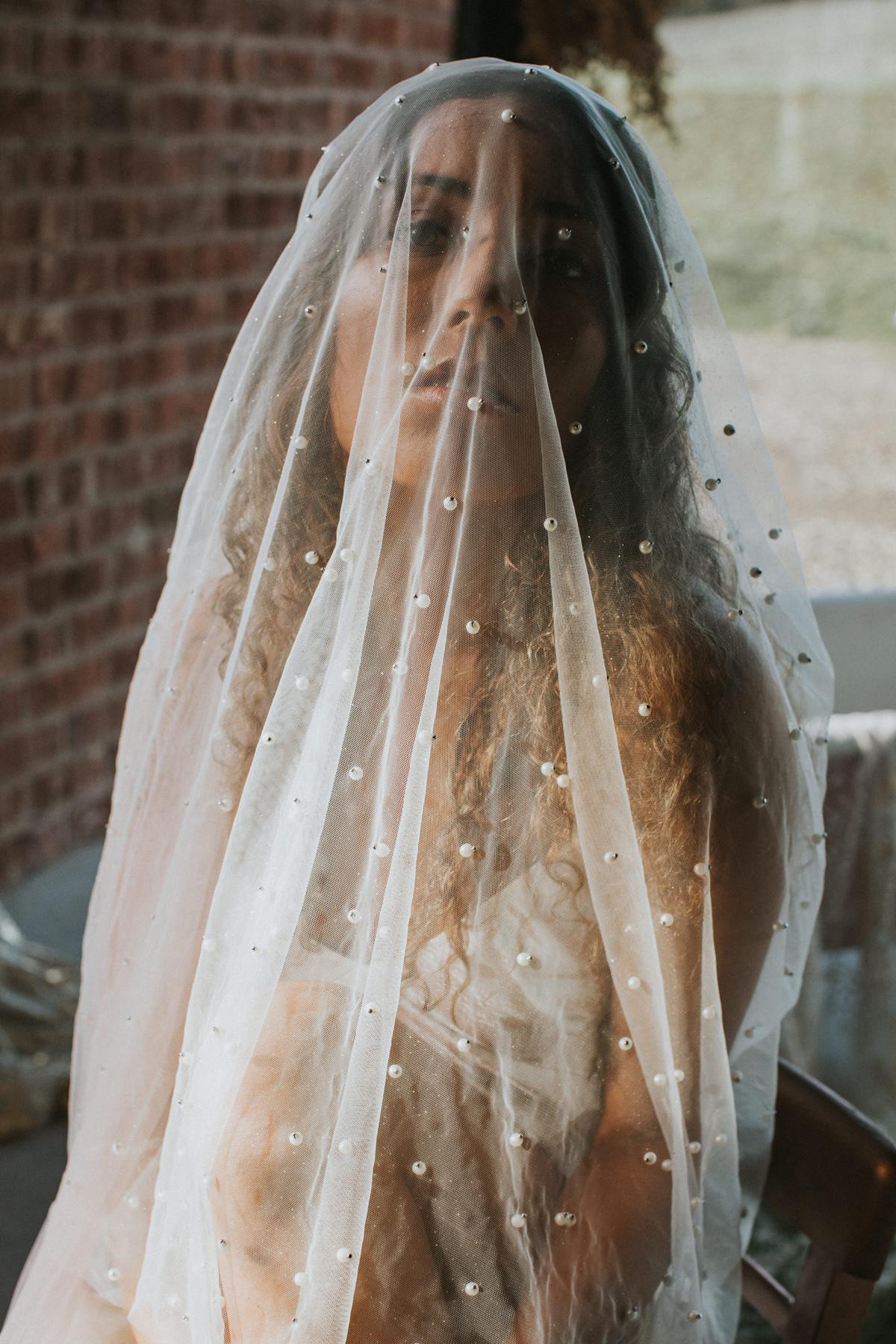 Avant Garde Rodarte Inspired wedding veils - An Avant Garde, Rodarte Inspired Wedding Veil Editorial