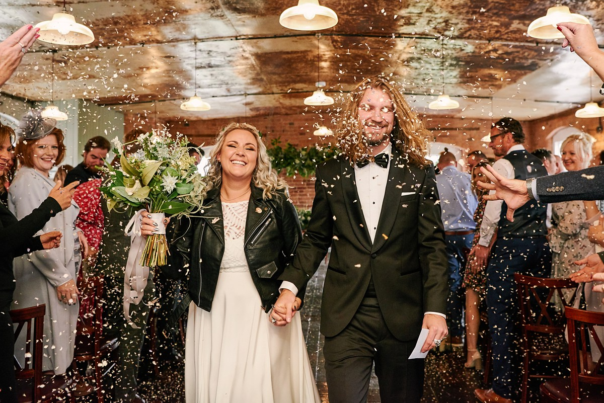 A Dip Dye Wedding Dress by Lucy Can't Dance + Converted Mill